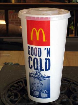 Empty McDonald's soda cup