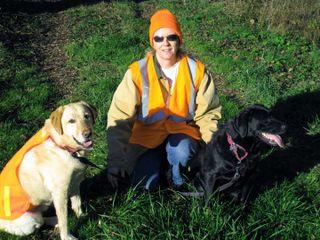 Tango, Laurie Rockin' the Hunter Orange