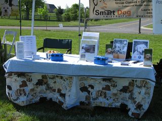 Smart Dog U's Bark in the Park booth
